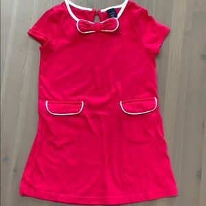 Gap pink dress with open pockets and bow